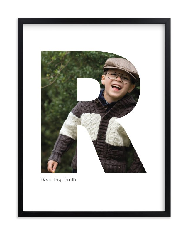 """""""R - Within Letters of You"""" - Children's Custom Photo Art Print by Heather Francisco in beautiful frame options and a variety of sizes."""