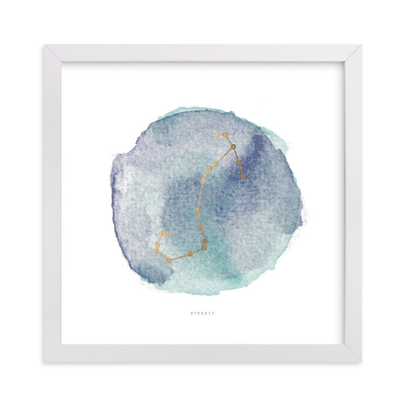 """Scorpio"" - Foil-pressed Art Print by annie clark in beautiful frame options and a variety of sizes."