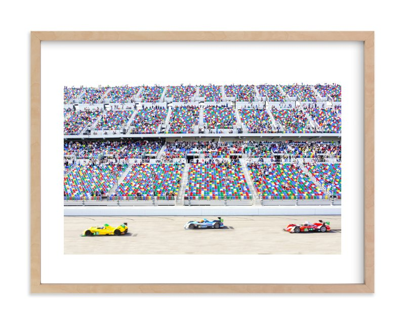 """Primary Colors Go Zoom Zoom!"" - Limited Edition Art Print by Molly Goodman in beautiful frame options and a variety of sizes."