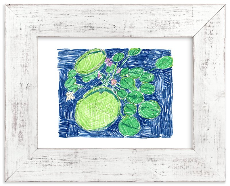 """""""Lilypads"""" - Art Print by Kimberly Ellen Hall in beautiful frame options and a variety of sizes."""