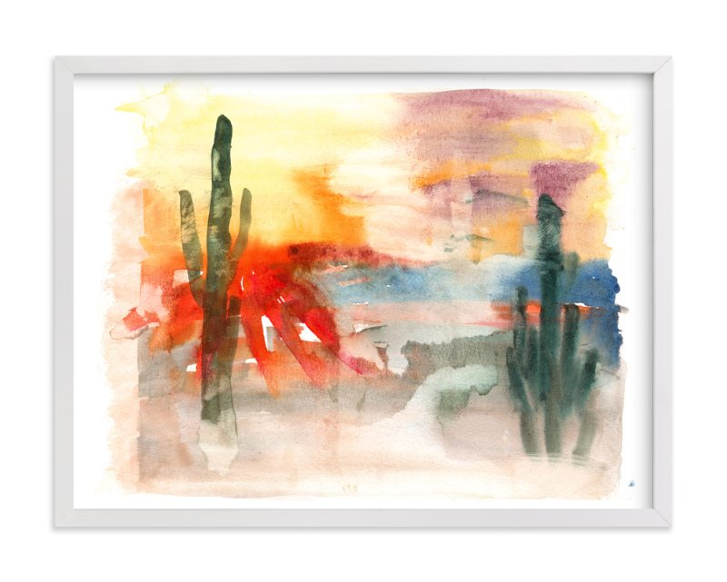 """Desert Abstract"" - Art Print by Sara Berrenson in beautiful frame options and a variety of sizes."