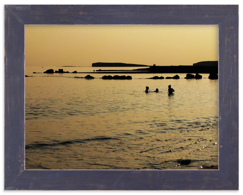 """Golden Galway Bay"" - Art Print by Sonya F. Contino in beautiful frame options and a variety of sizes."