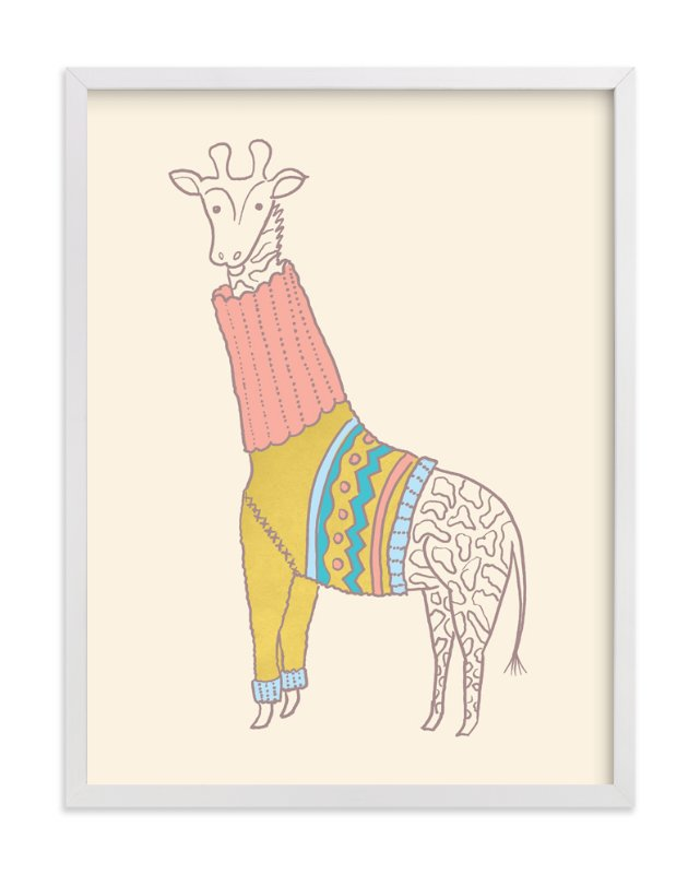"""Fiesta Turtleneck"" - Art Print by Moglea in beautiful frame options and a variety of sizes."