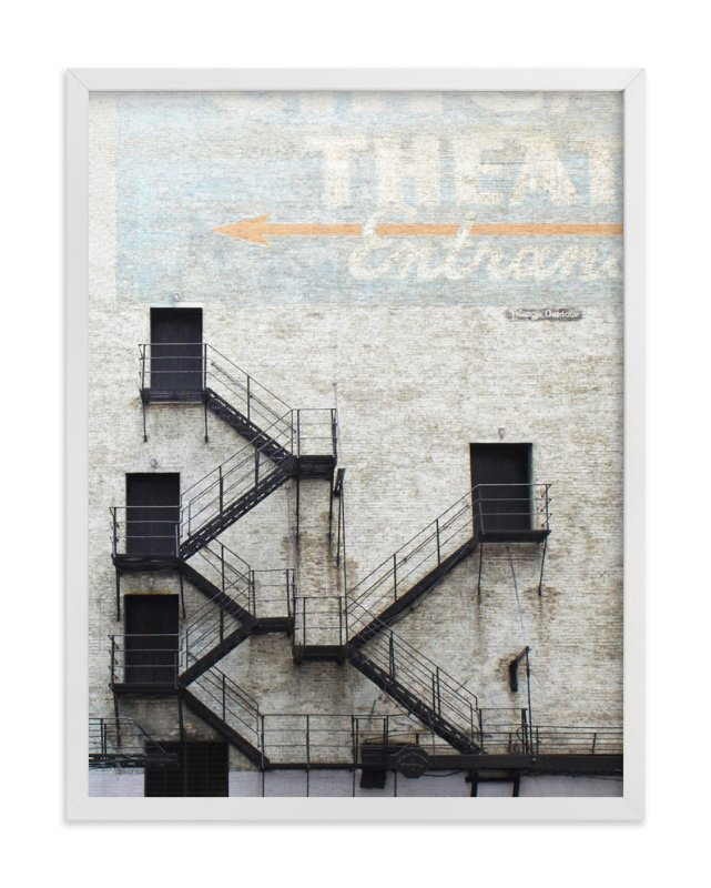 """""""Stage Door"""" - Limited Edition Art Print by Baumbirdy in beautiful frame options and a variety of sizes."""