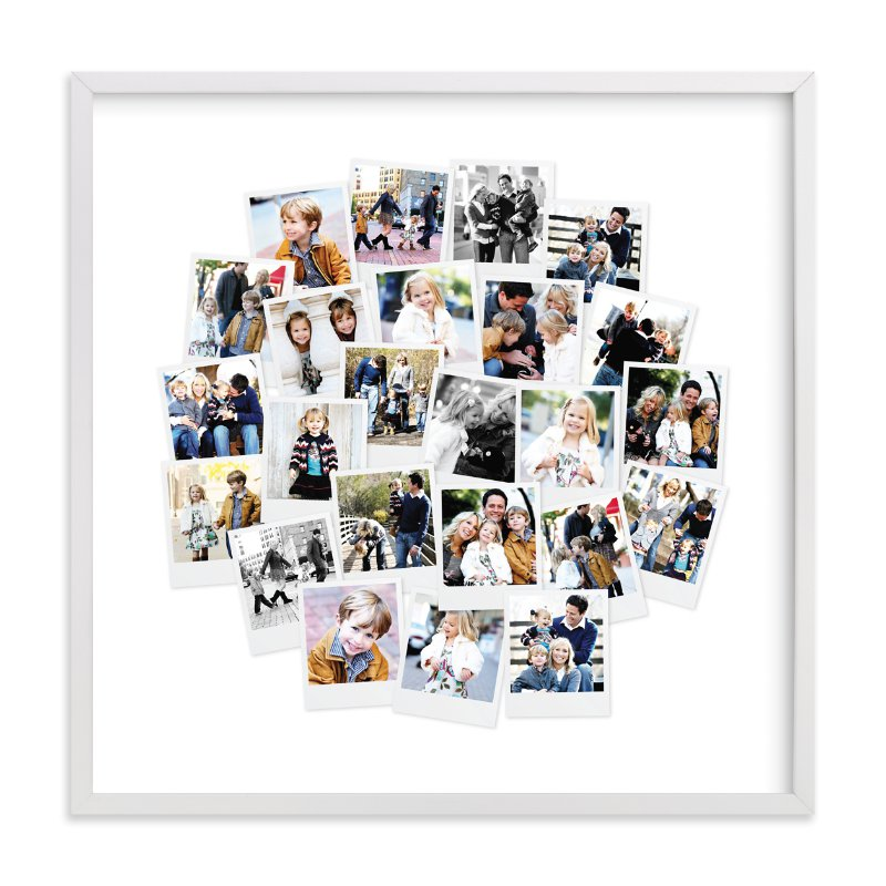 """Circle Snapshot Mix® Photo Art"" - Custom Photo Art Print by Minted in beautiful frame options and a variety of sizes."
