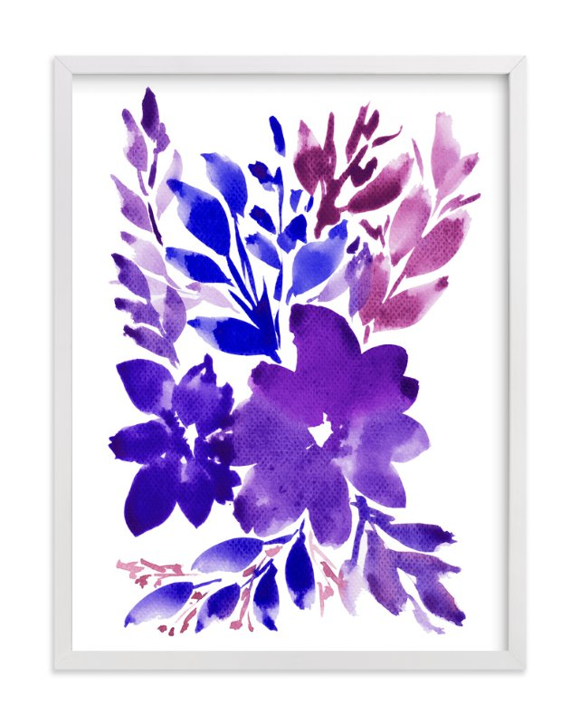"""hand painted flowers_2H"" - Art Print by aticnomar in beautiful frame options and a variety of sizes."