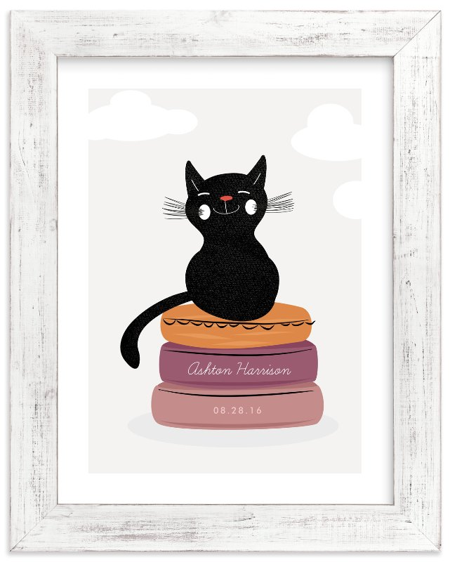 """""""The Cat & the Cushions"""" - Children's Custom Art Print by Oma N. Ramkhelawan in beautiful frame options and a variety of sizes."""