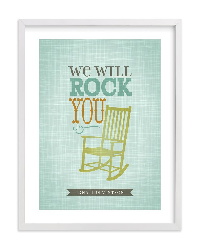 """We will Rock You"" - Nursery Custom Art Print by Tami Bohn in beautiful frame options and a variety of sizes."