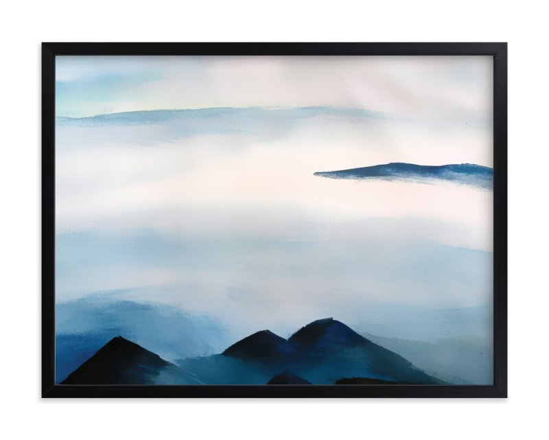 """""""Snowscape"""" - Art Print by Roopali in beautiful frame options and a variety of sizes."""