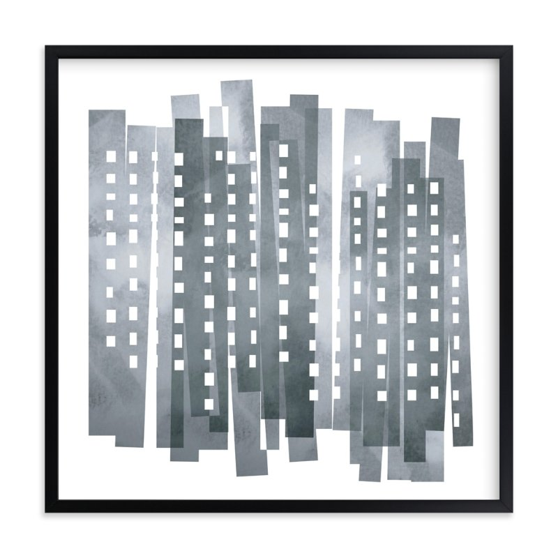 """Downtown"" - Art Print by Susan Asbill in beautiful frame options and a variety of sizes."