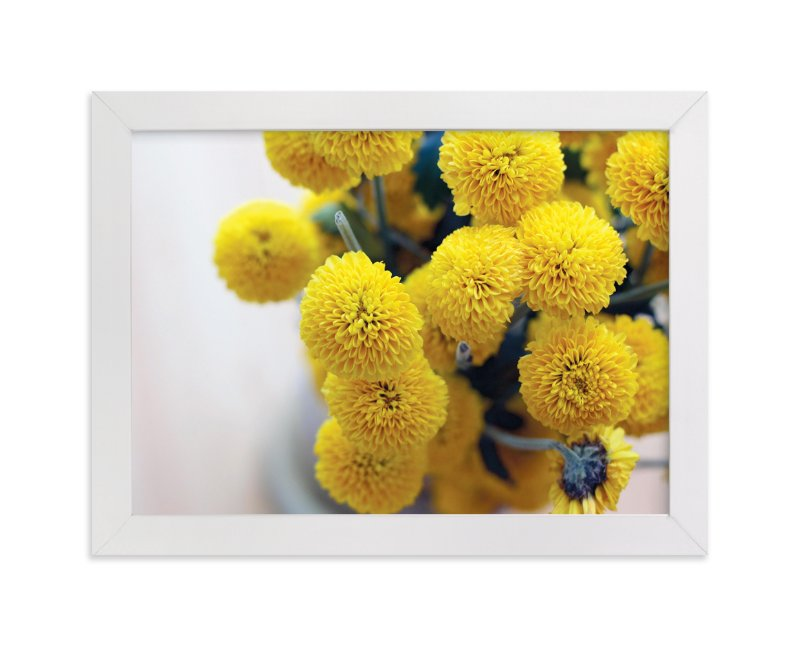 """Golden Mums"" - Art Print by Rebekah Disch in beautiful frame options and a variety of sizes."