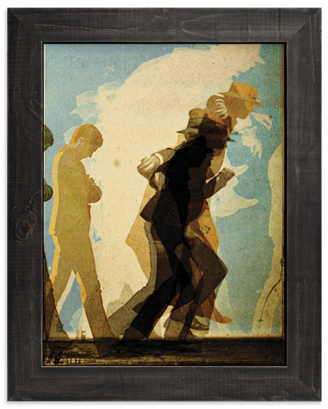 """""""After Muybridge"""" - Art Print by Terrance Grace in beautiful frame options and a variety of sizes."""