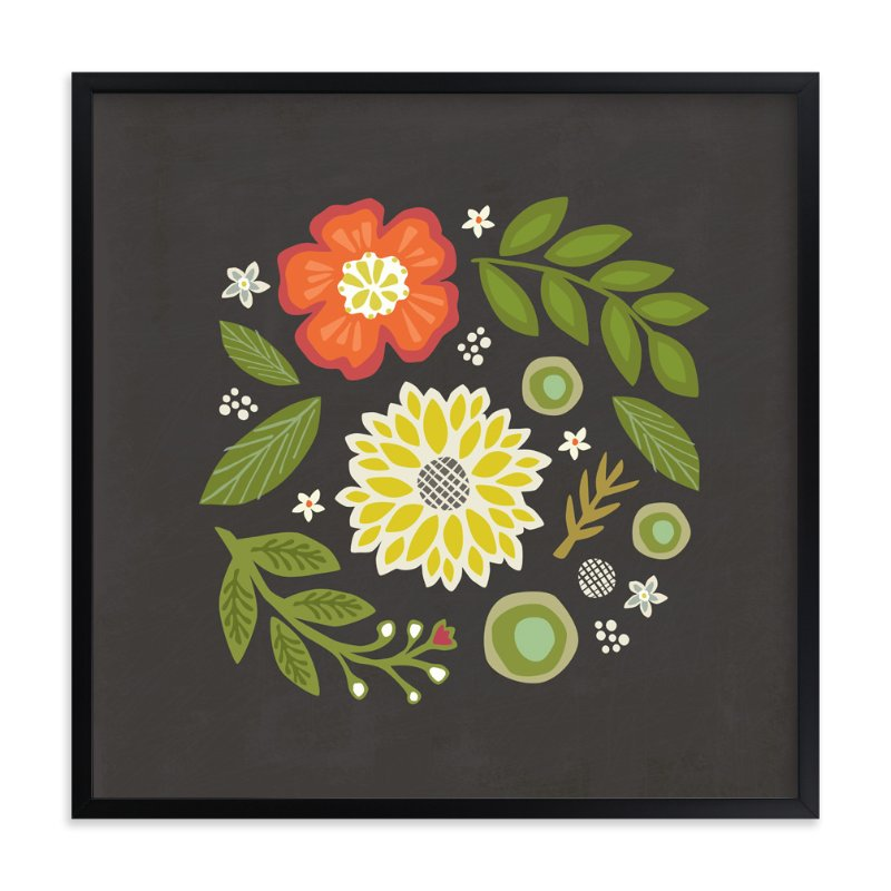 """""""Floral Swirl"""" - Art Print by Griffinbell Paper Co. in beautiful frame options and a variety of sizes."""