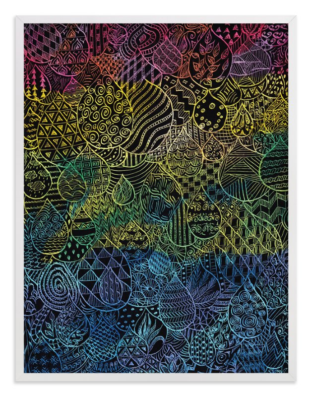 """""""Patterned Drops"""" - Art Print by Kanika Mathur in beautiful frame options and a variety of sizes."""