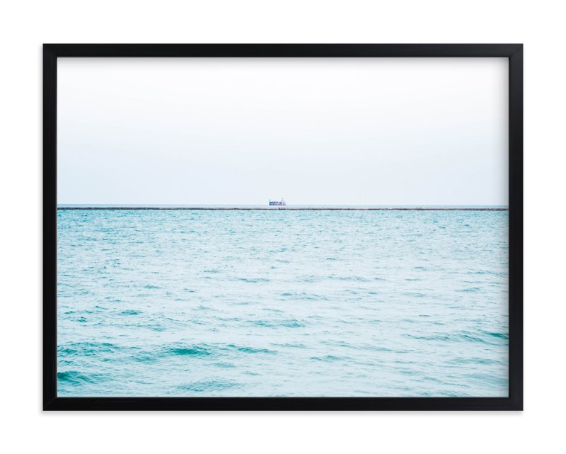 """""""Minimalist Sea"""" - Art Print by Vicky Gu in beautiful frame options and a variety of sizes."""