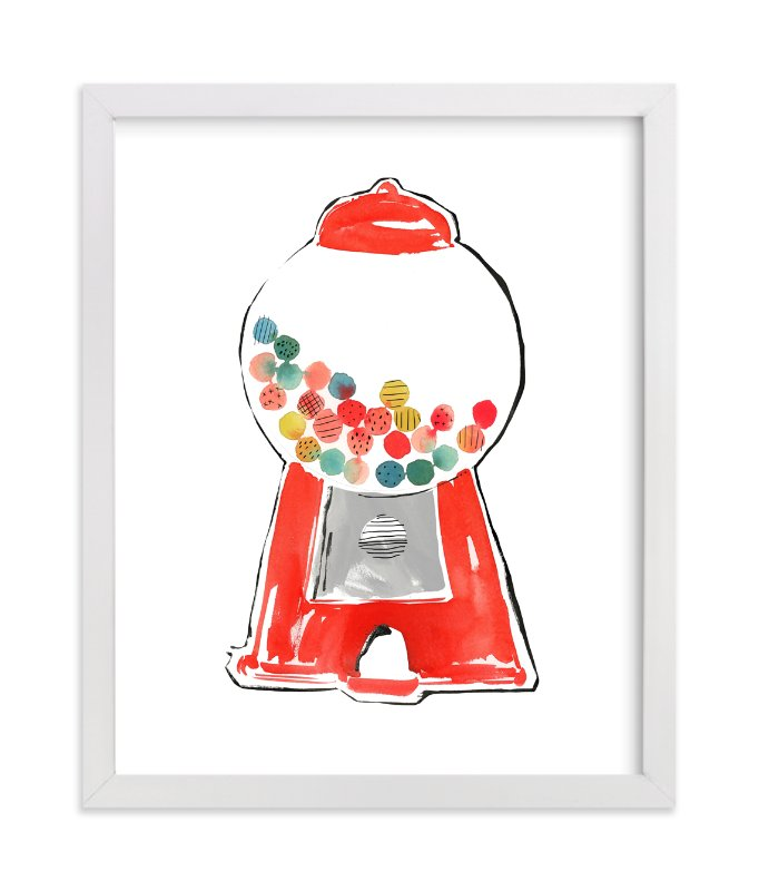 """""""Gumball Machine"""" - Art Print by Kelly Ventura in beautiful frame options and a variety of sizes."""