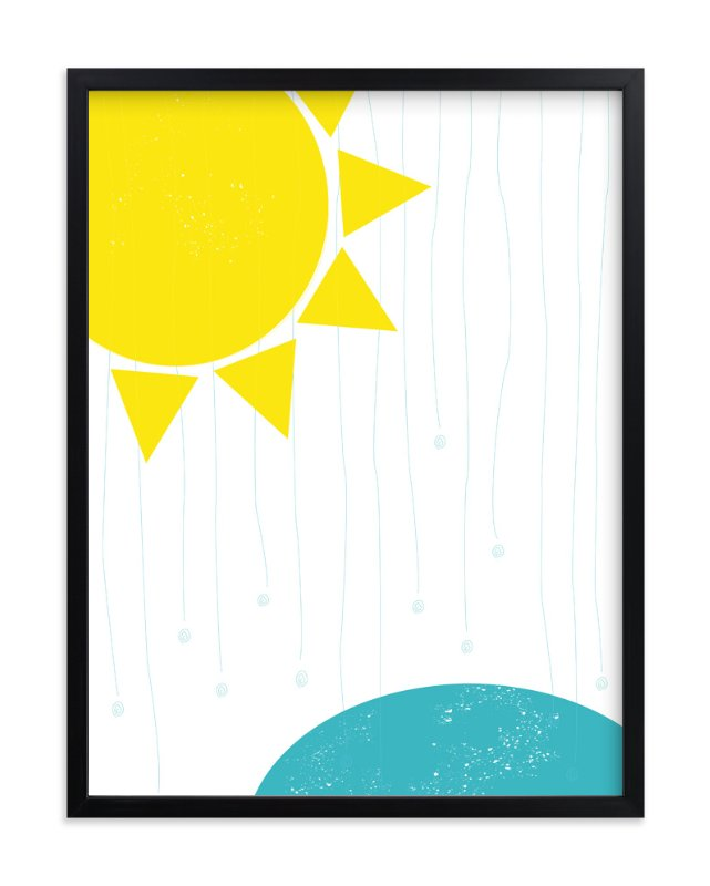 """Sunny Rain"" - Art Print by Gaucho Works in beautiful frame options and a variety of sizes."