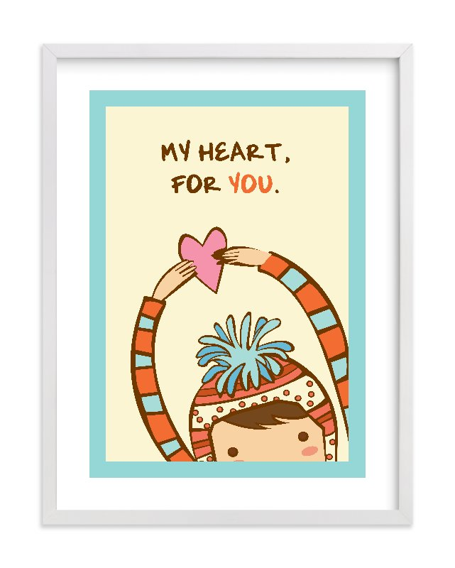 """My Heart For You"" - Limited Edition Art Print by Everyday Greeting in beautiful frame options and a variety of sizes."
