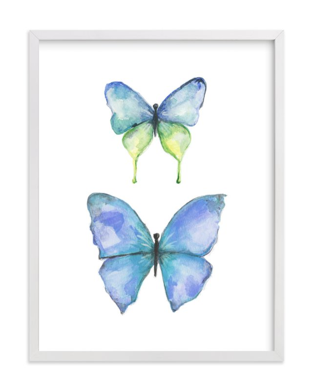 """""""Rhopalocera Three"""" - Art Print by Erin Deegan in beautiful frame options and a variety of sizes."""