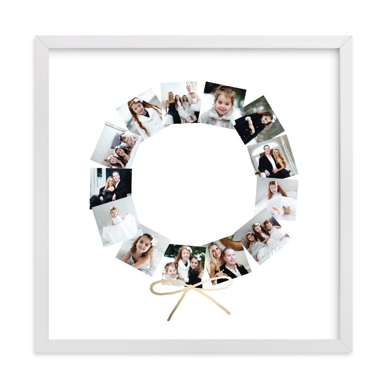 """Holiday Wreath"" - Foil Pressed Photo Art Print by Minted in beautiful frame options and a variety of sizes."