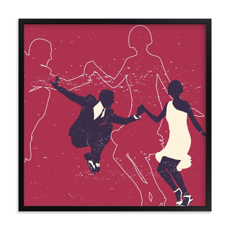 """Dancing Couple"" - Art Print by Chad Trutt in beautiful frame options and a variety of sizes."