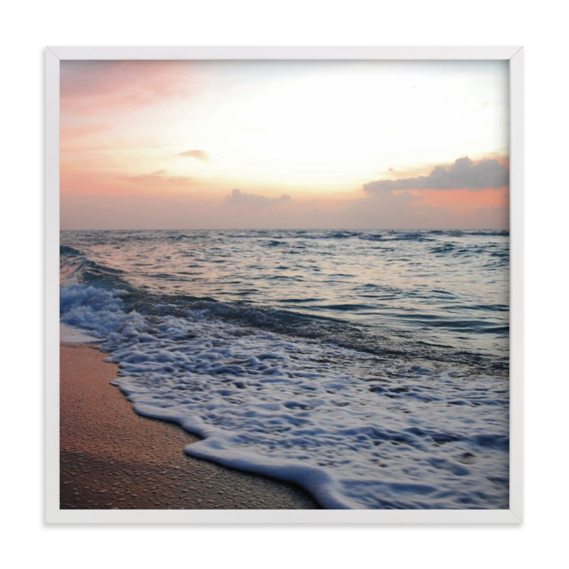 """Coastal Wave"" - Art Print by Kate Ross in beautiful frame options and a variety of sizes."