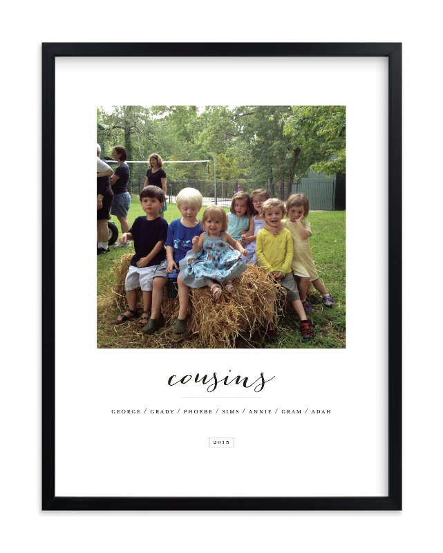 """Cousins"" - Children's Custom Photo Art Print by Sara Hicks Malone in beautiful frame options and a variety of sizes."