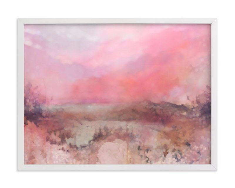 """Cliffs at Sundown"" - Art Print by Grace Kreinbrink in beautiful frame options and a variety of sizes."