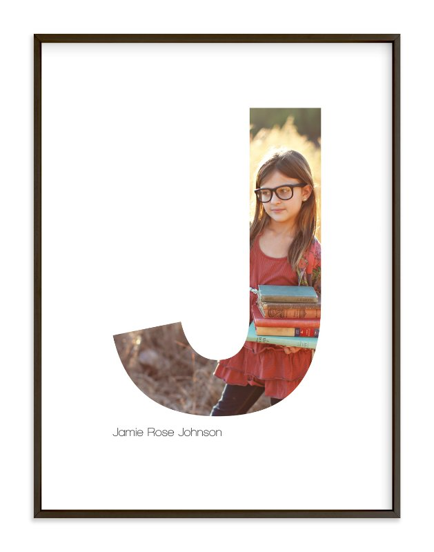 """J - Within Letters of You"" - Children's Custom Photo Art Print by Heather Francisco in beautiful frame options and a variety of sizes."