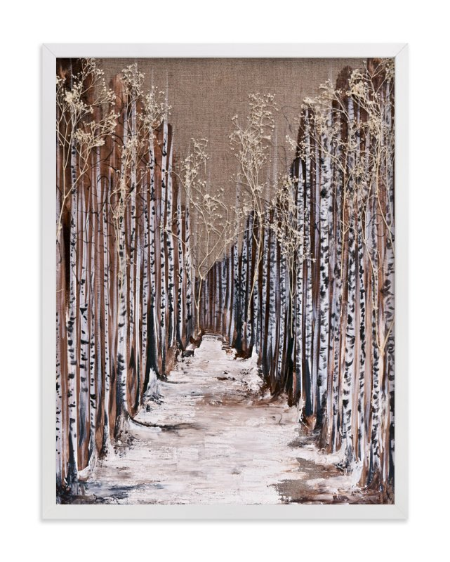 """Aspen Grove"" - Art Print by Emily Magone in beautiful frame options and a variety of sizes."