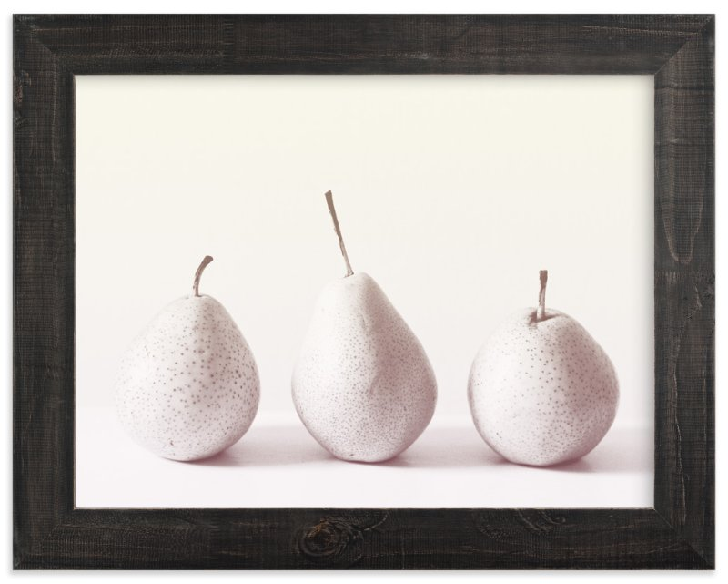 """""""Three Little Pears"""" - Art Print by Ashley Flynn in beautiful frame options and a variety of sizes."""