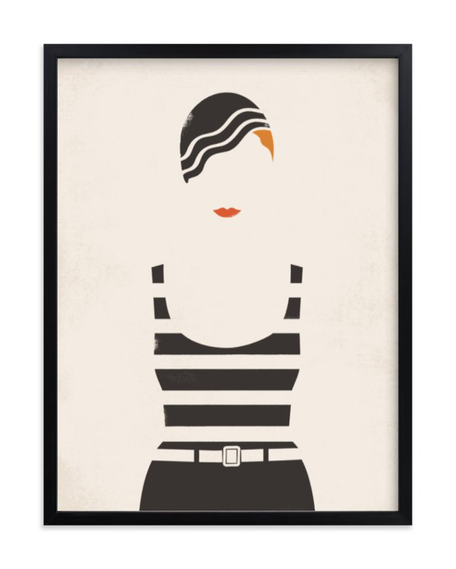 """Striped Suit"" - Art Print by Faiths Designs in beautiful frame options and a variety of sizes."