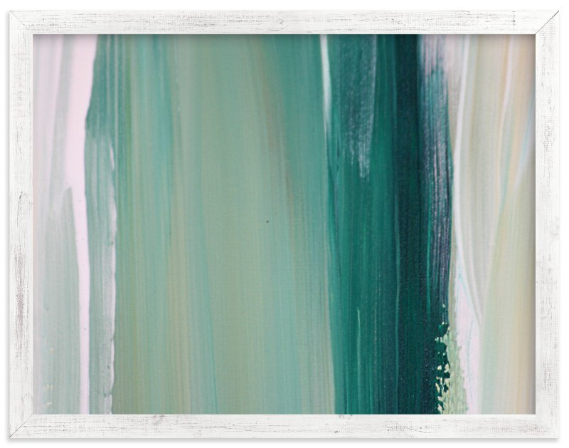 """""""Emerald Blades"""" - Art Print by Artsy Canvas Girl Designs in beautiful frame options and a variety of sizes."""