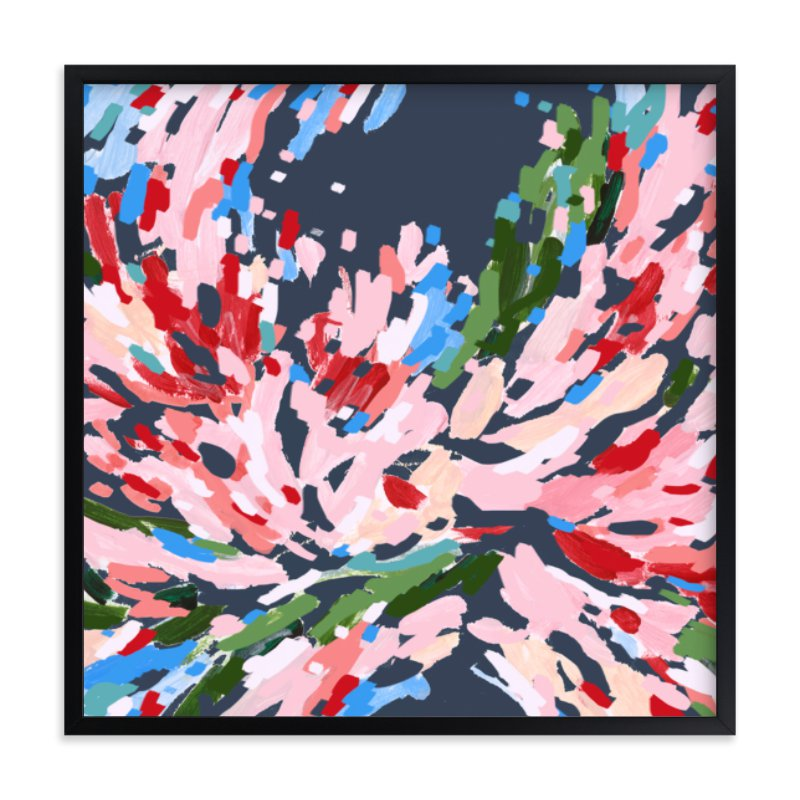 """""""Red Floral No.2"""" - Limited Edition Art Print by Katie Craig in beautiful frame options and a variety of sizes."""