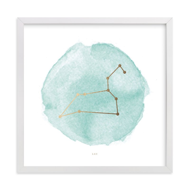 """""""Leo"""" - Foil-pressed Art Print by annie clark in beautiful frame options and a variety of sizes."""