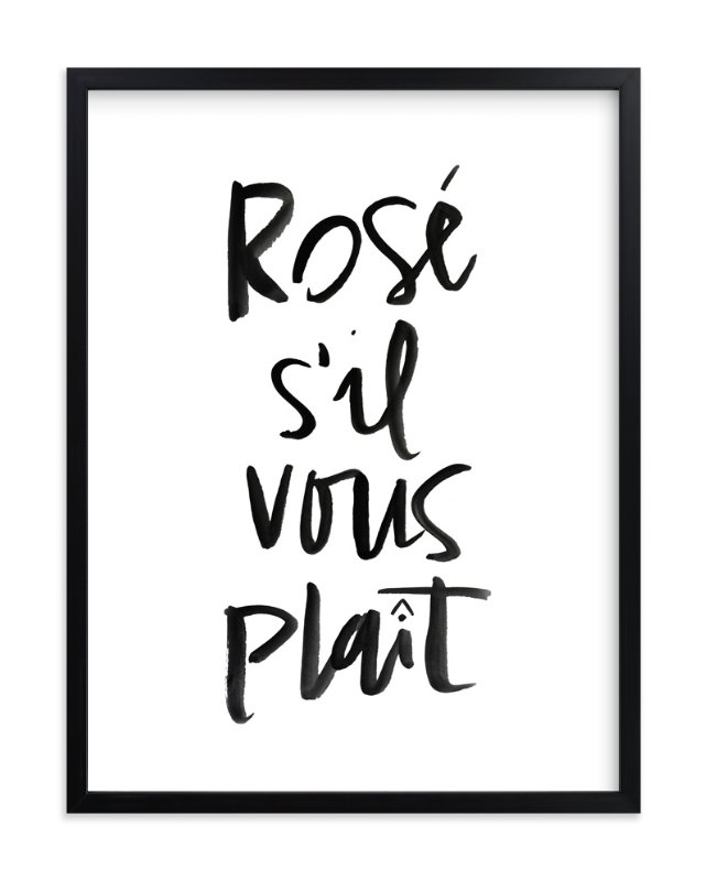 """""""Rosé S'il Vous Plaît"""" - Art Print by Annie Montgomery in beautiful frame options and a variety of sizes."""