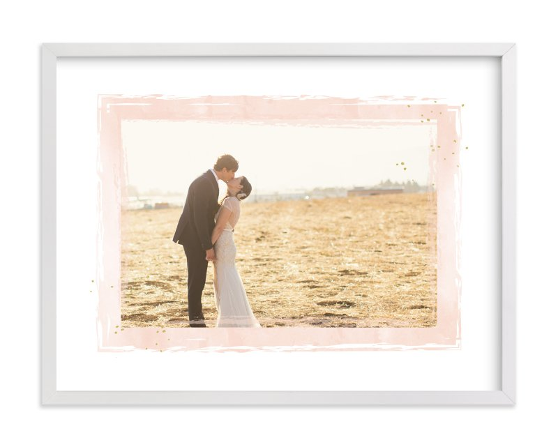 """""""Mod Dot Watercolor Frame"""" - Custom Photo Art Print by Grace Kreinbrink in beautiful frame options and a variety of sizes."""