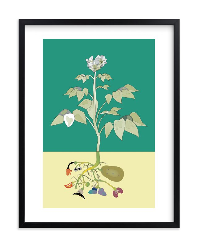 """Look What's Growing in my Garden"" - Art Print by Pat Jennings in beautiful frame options and a variety of sizes."