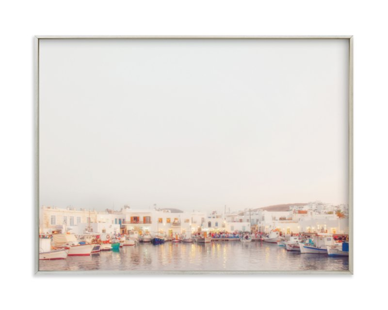 """Evening in Greece"" - Art Print by Gabrial Reising in beautiful frame options and a variety of sizes."