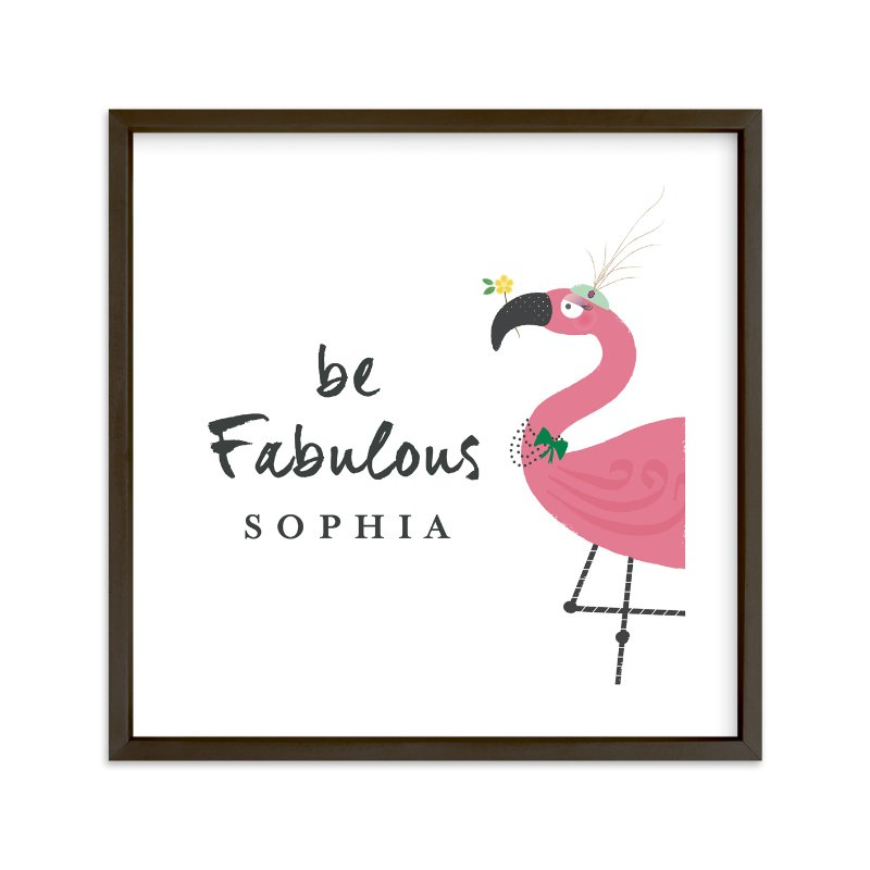 """Fabulous"" - Children's Custom Art Print by Rebecca Bowen in beautiful frame options and a variety of sizes."