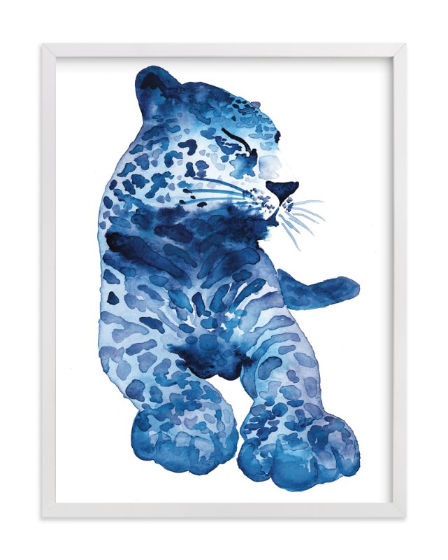 """""""Lovely Leopard"""" - Art Print by Kelsey McNatt in beautiful frame options and a variety of sizes."""