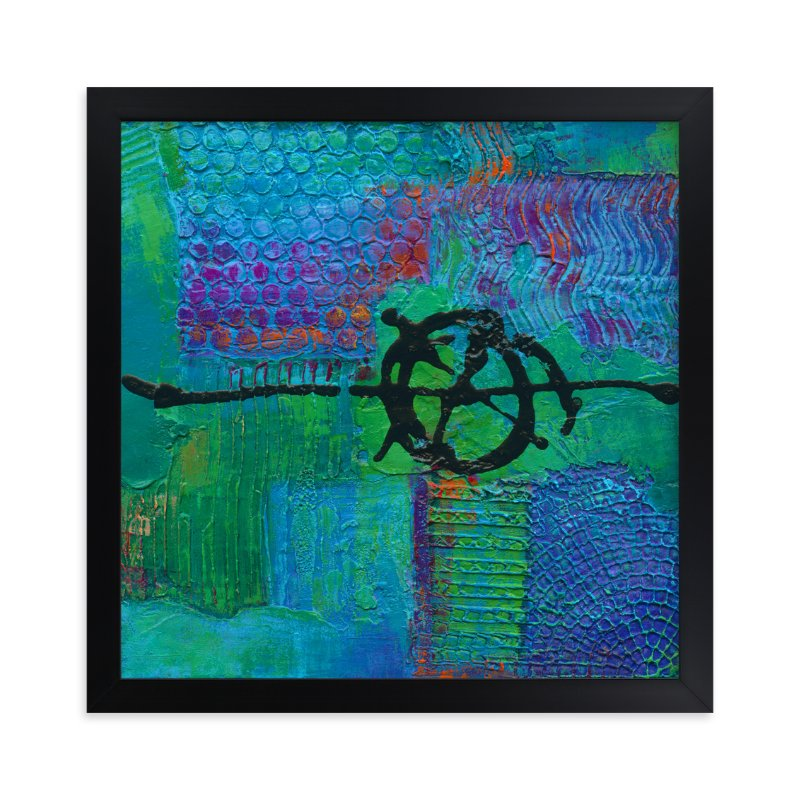 """""""Color Block III"""" - Art Print by Laura Bolter Design in beautiful frame options and a variety of sizes."""