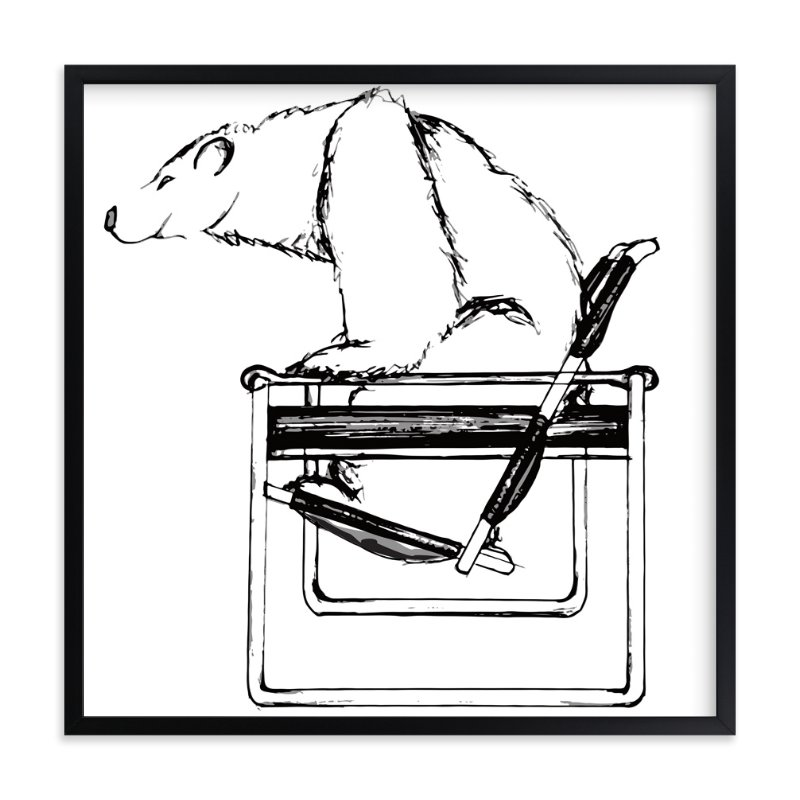 """""""Wassily Chair Bear"""" - Art Print by Flume Design in beautiful frame options and a variety of sizes."""