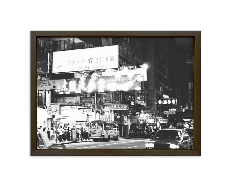 """""""City in Black and White"""" - Art Print by Caitlin in beautiful frame options and a variety of sizes."""