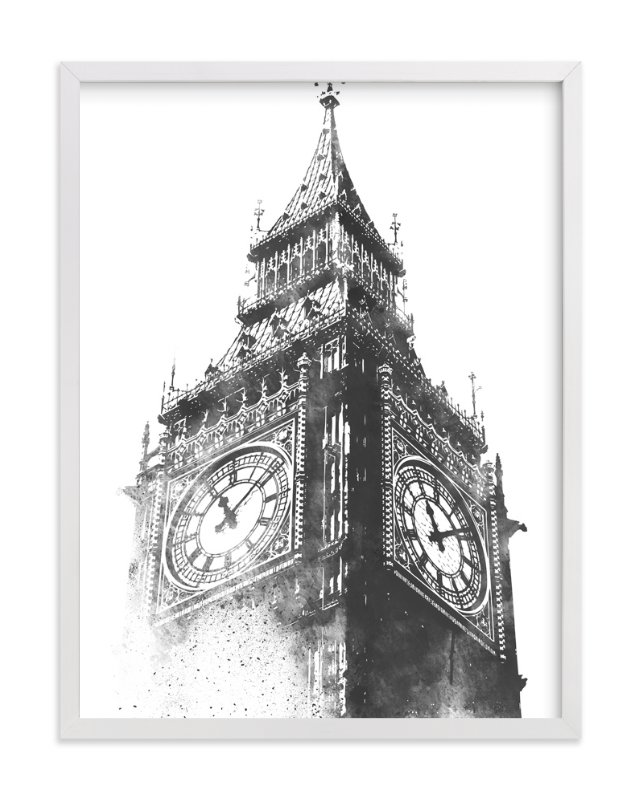 """""""Big Ben"""" - Art Print by Paul Berthelot in beautiful frame options and a variety of sizes."""