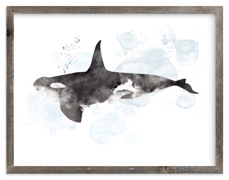 """""""Whale Series Three"""" - Art Print by Shirley Lin Schneider in beautiful frame options and a variety of sizes."""