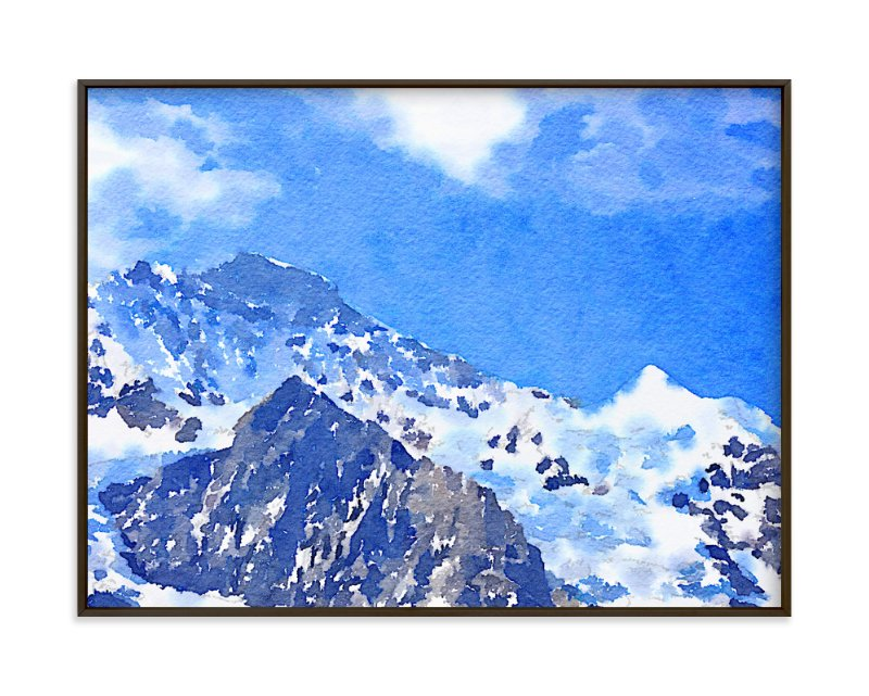 """Jungfrau"" - Art Print by Teng Wang in beautiful frame options and a variety of sizes."
