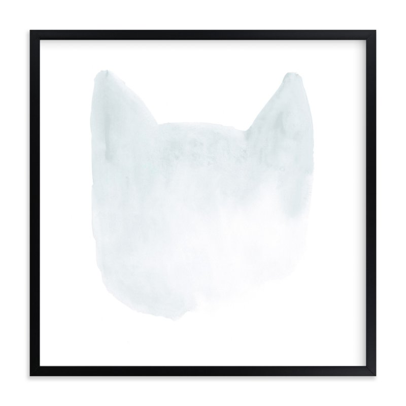 """""""White Cat Black Cat"""" - Art Print by Susanna Nousiainen in beautiful frame options and a variety of sizes."""