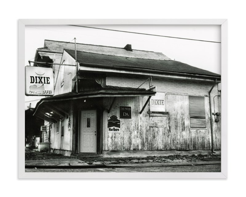 """Corner Bar in the Neighborhood, New Orleans"" - Art Print by Mary Ann Glynn-Tusa in beautiful frame options and a variety of sizes."