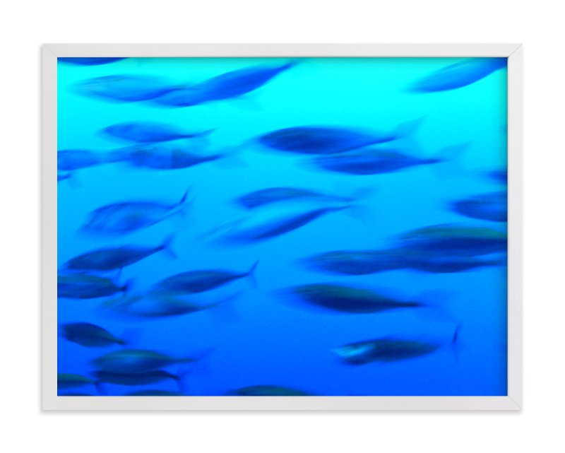 """""""Swimming 2"""" - Art Print by Jan Kessel in beautiful frame options and a variety of sizes."""